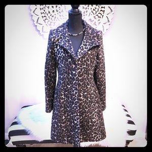 VIA SPIGA Leopard Trendy Coat 🌟